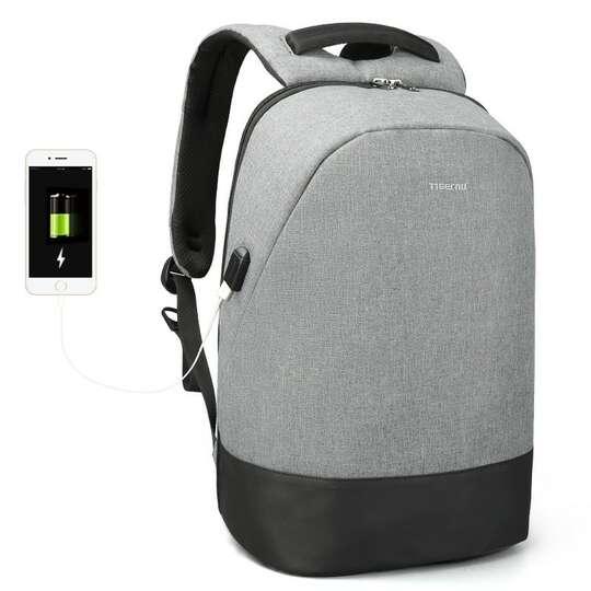 """Plecak Tigernu na laptopa 15,6"""" T-B3595 z USB - Kolor: szary"""