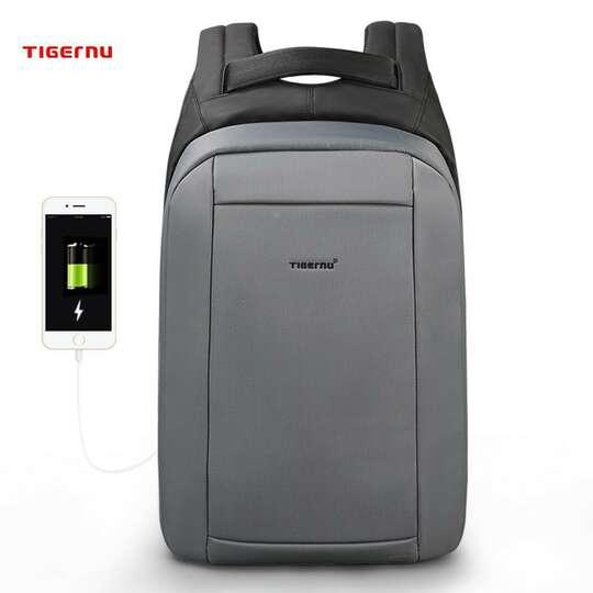 """Plecak Tigernu na laptopa 15,6"""" T-B3599 z USB - Kolor: szary"""