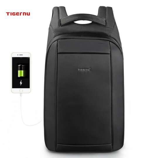 """Plecak Tigernu na laptopa 15,6"""" T-B3599 z USB - Kolor: czarny"""