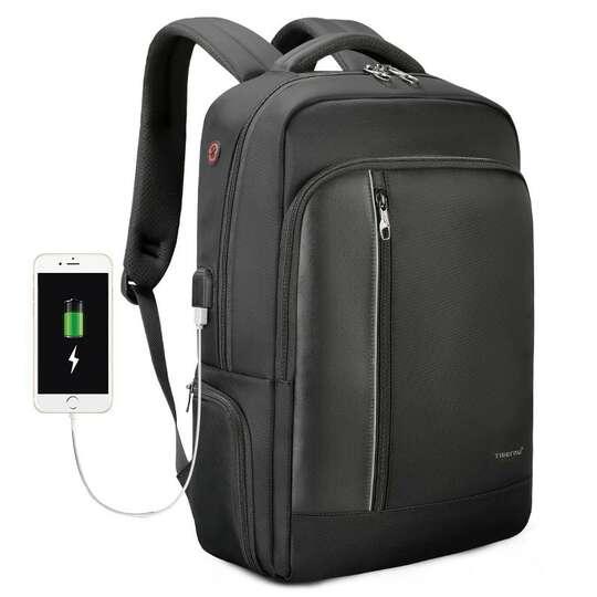"Plecak Tigernu na laptopa 15,6"" - 16,4"" T-B3668 z USB i RFID - Kolor: czarny"