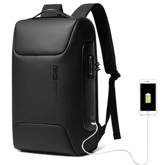 """Antykradzieżowy plecak Bange na laptopa 15,6"""" BG-7216 z USB - Kolor: czarny"""