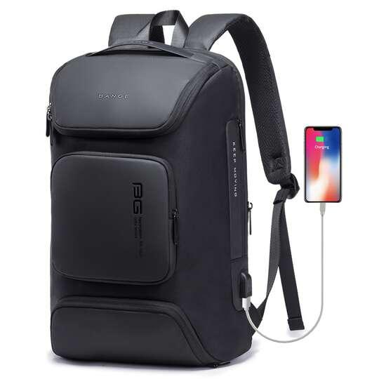 """Plecak Bange BG-7078 na laptopa 15,6"""" z USB - Kolor: czarny"""