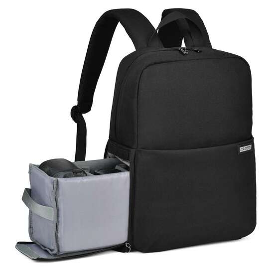 "Plecak fotograficzny Caden L4 na aparat + laptopa 14,1"" boczny dostęp - Kolor: czarny"