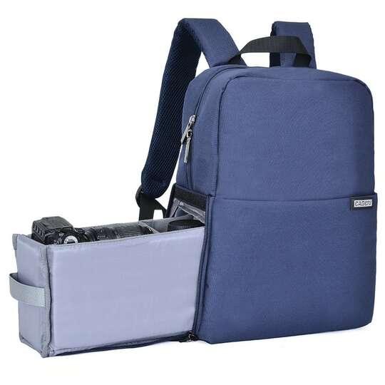 """Plecak fotograficzny Caden L4 na aparat + laptopa 14,1"""" boczny dostęp - Kolor: niebieski"""