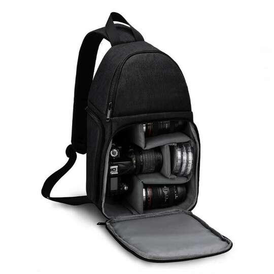 Plecak fotograficzny na jedno ramię Caden D15 na aparat boczny dostęp - Kolor: czarny