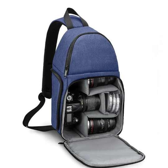 Plecak fotograficzny na jedno ramię Caden D15 na aparat boczny dostęp - Kolor: niebieski