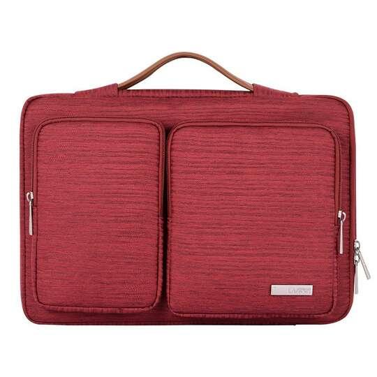 """Etui Canvas K28-22 z dwoma kieszonkami i rączką na laptopa 13,3-14,1"""" - Kolor: czerwony"""
