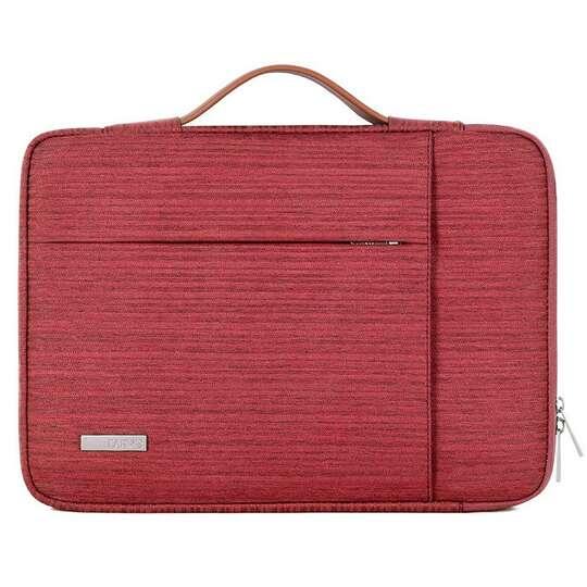 """Etui Canvas K28 z kieszonką i rączką na laptopa 13,3""""-14,1"""" - Kolor: czerwony"""