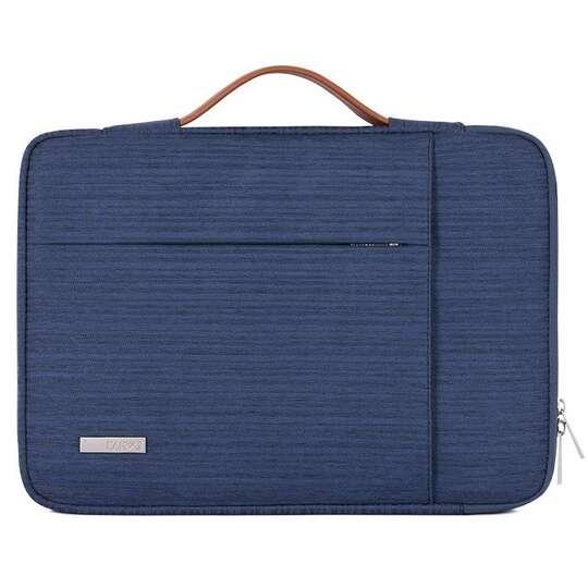 """Etui Canvas K28 z kieszonką i rączką na laptopa 13,3""""-14,1"""" - Kolor: ciemnoniebieski"""