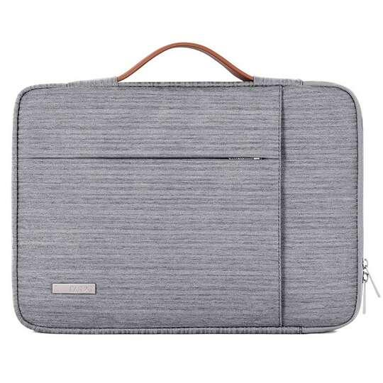"""Etui Canvas K28 z kieszonką i rączką na laptopa 13,3""""-14,1"""" - Kolor: szary"""