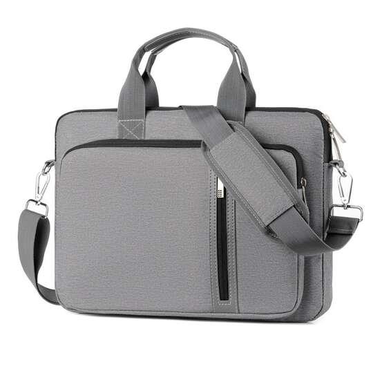"""Etui/torba na laptopa 15.6"""" z paskiem - Kolor: szary"""