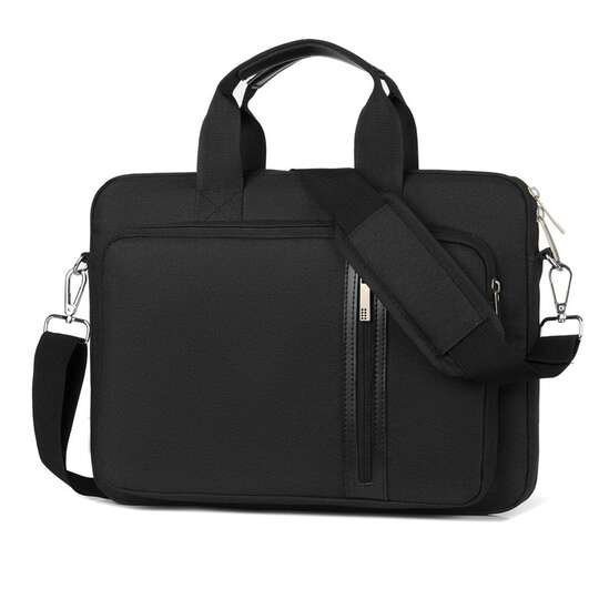 "Etui/torba na laptopa 15.6"" z paskiem - Kolor: czarny"