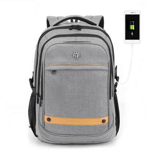 """Plecak Golden Wolf na laptopa 15,6"""" GB00370 z USB pojemny - Kolor: szary"""