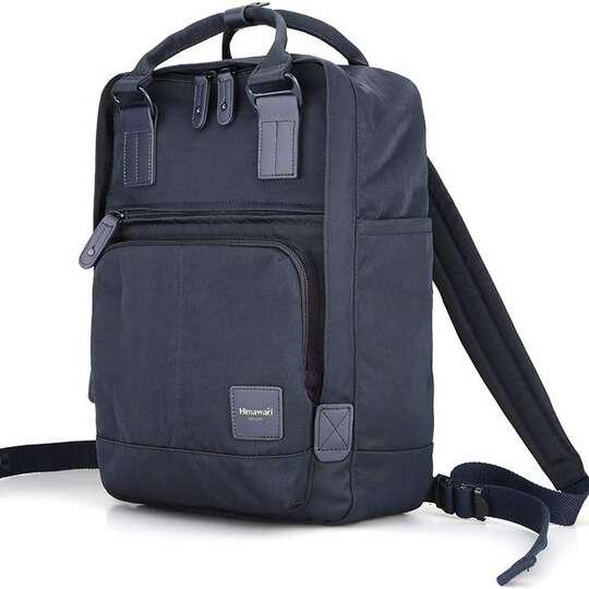 "Plecak Himawari HM187 na laptopa 13,3"" 14,1"" vintage - Kolor: 02. granatowy"