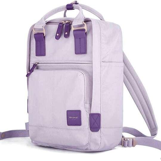"Plecak Himawari HM187 na laptopa 13,3"" 14,1"" vintage - Kolor: 03. pastelowy fiolet"