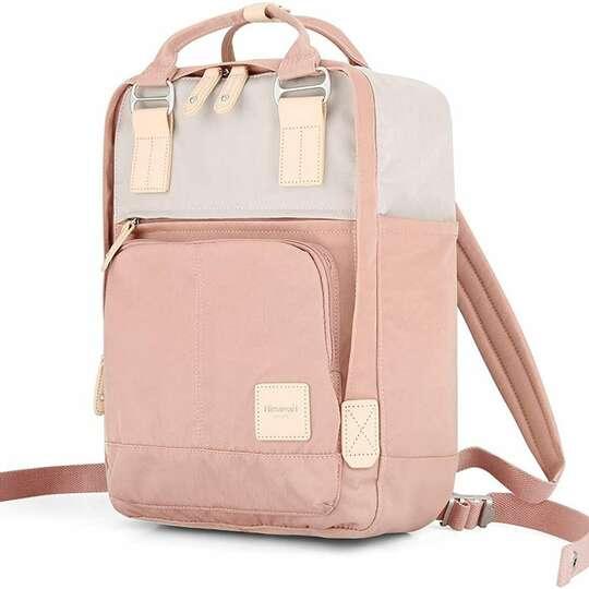 """Plecak Himawari HM187 na laptopa 13,3"""" 14,1"""" vintage - Kolor: 06. różowo-beżowy"""