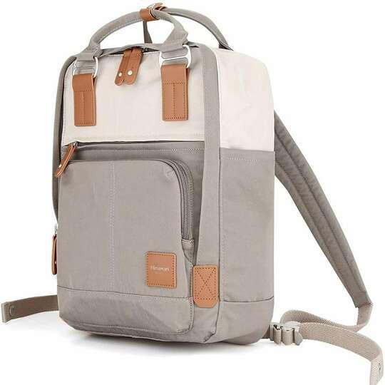 "Plecak Himawari HM187 na laptopa 13,3"" 14,1"" vintage - Kolor: 08. szaro-beżowy"