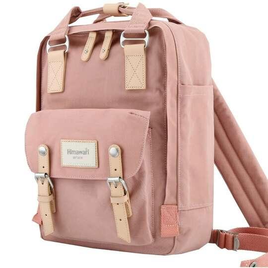 """Plecak Himawari HM188L na laptopa 13,3"""" 14,1"""" vintage - Kolor: 23. różowy"""