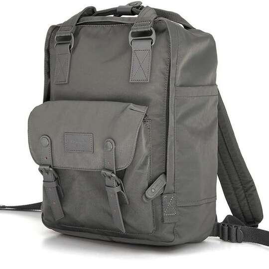 """Plecak Himawari HM188L na laptopa 13,3"""" 14,1"""" vintage - Kolor: 72. ciemnoszary"""