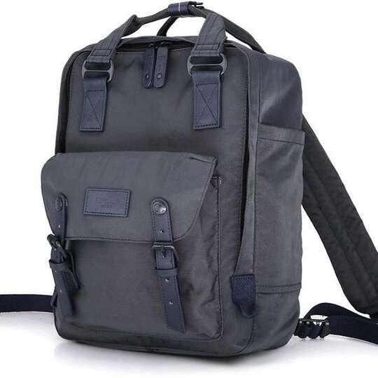 "Plecak Himawari HM188L na laptopa 13,3"" 14,1"" vintage - Kolor: 74. antracyt"