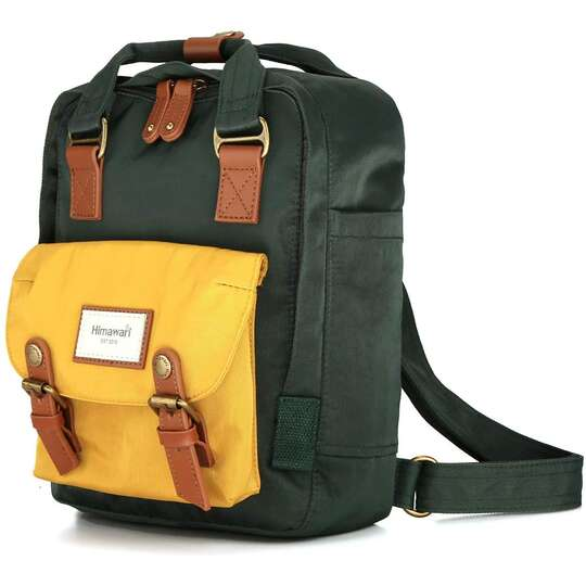 "Plecak Himawari HM188S na tablet 10"" vintage - Kolor: 56. zielono-żółty"