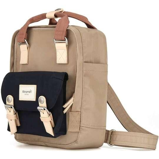 """Plecak Himawari HM188S na tablet 10"""" vintage - Kolor: 57. kawowo-granatowo-różowy"""