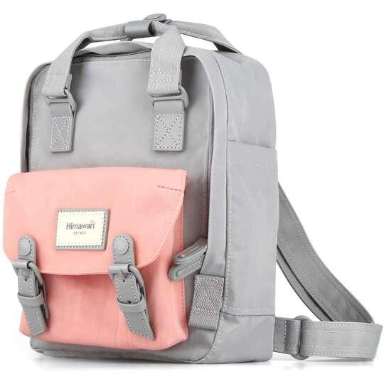 """Plecak Himawari HM188S na tablet 10"""" vintage - Kolor: 61. szaro-różowy"""