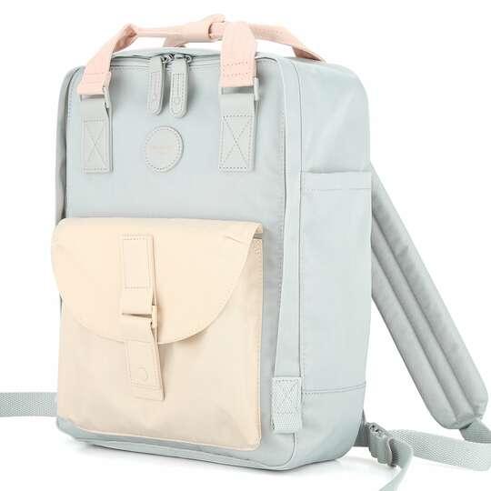"Plecak Himawari HM200 na laptopa 13,3"" 14,1"" vintage - Kolor: 02. błękitno-beżowy"