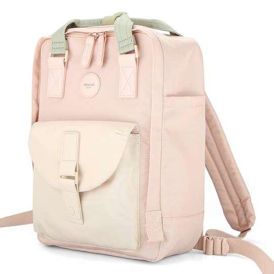 """Plecak Himawari HM200 na laptopa 13,3"""" 14,1"""" vintage - Kolor: 03. różowo-beżowy"""