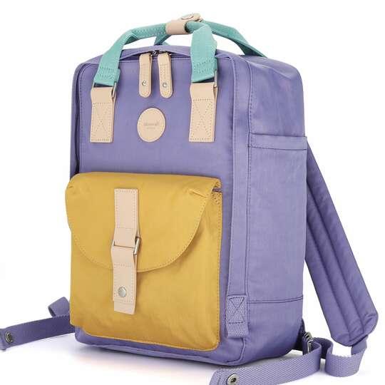 "Plecak Himawari HM200 na laptopa 13,3"" 14,1"" vintage - Kolor: 04. fioletowo-żółty"