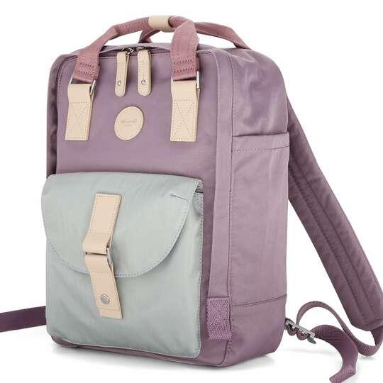 """Plecak Himawari HM200 na laptopa 13,3"""" 14,1"""" vintage - Kolor: 05. wrzosowo-miętowy"""