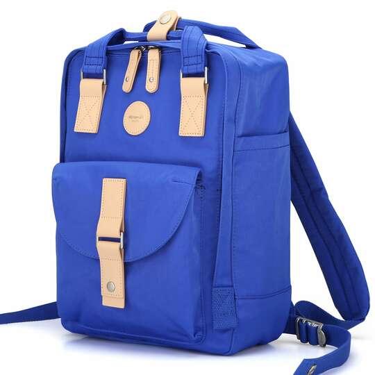 "Plecak Himawari HM200 na laptopa 13,3"" 14,1"" vintage - Kolor: 06. niebieski"