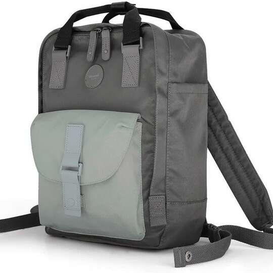 """Plecak Himawari HM200 na laptopa 13,3"""" 14,1"""" vintage - Kolor: 11. stalowo-miętowy"""