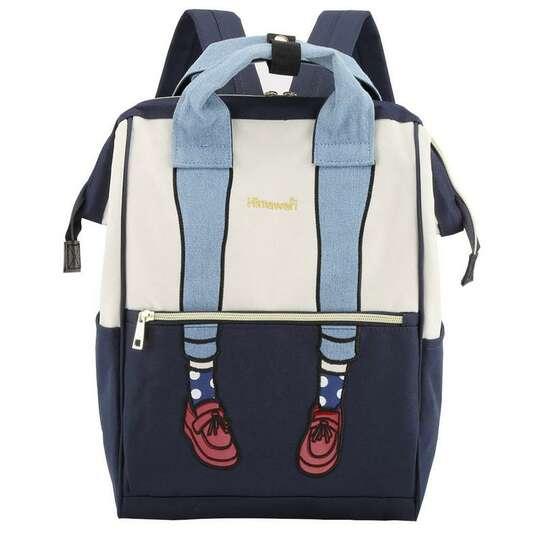 Plecak Himawari 3326 damski szkolny - Kolor: granatowo-biały