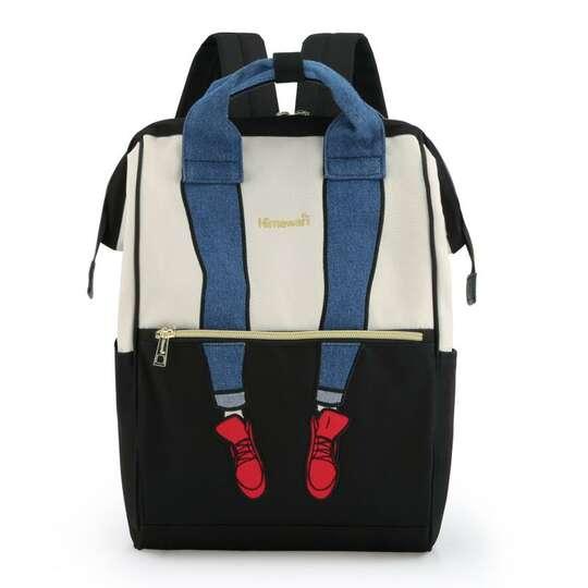 Plecak Himawari 3326 damski szkolny - Kolor: czarno-biały