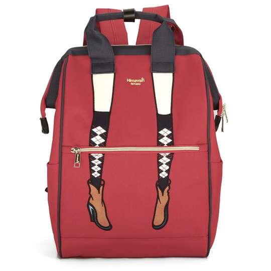 Plecak Himawari 3326 damski szkolny - Kolor: czerwony