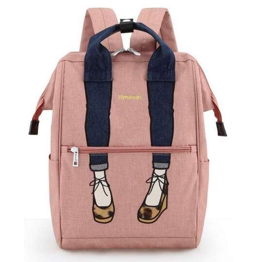 Plecak Himawari 3326 damski szkolny - Kolor: różowy