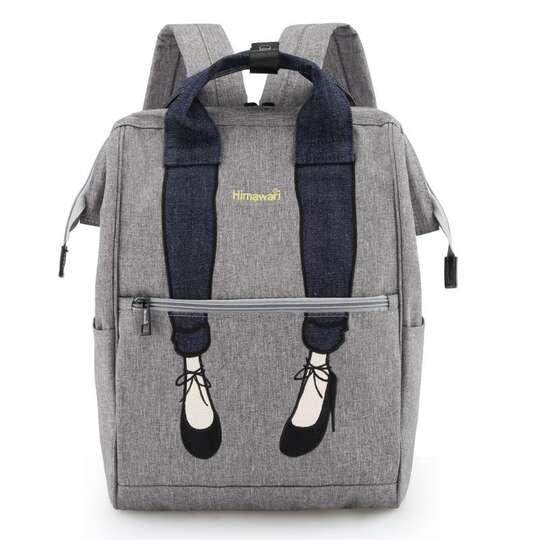 Plecak Himawari 3326 damski szkolny - Kolor: szary