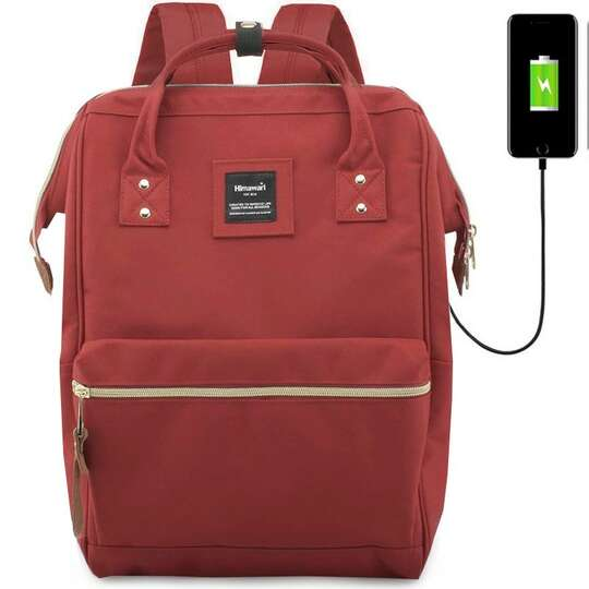 "Plecak Himawari 9001 na laptopa 13,3"" z USB - Kolor: czerwony"