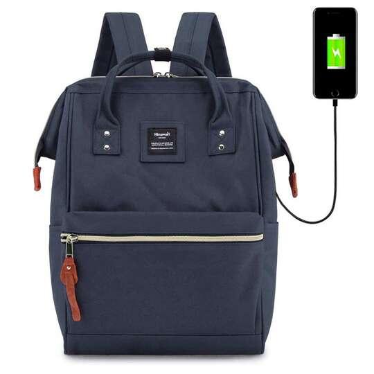 """Plecak Himawari 9001 na laptopa 13,3"""" z USB - Kolor: granatowy"""