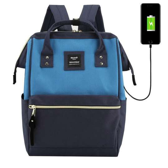 "Plecak Himawari 9001 na laptopa 13,3"" z USB - Kolor: granatowo-niebieski"