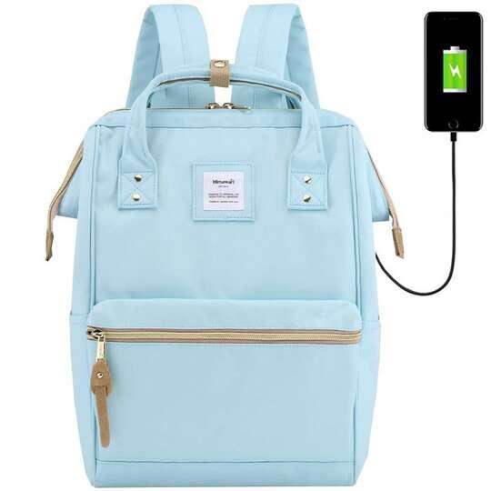 "Plecak Himawari 9001 na laptopa 13,3"" z USB - Kolor: błękitny"