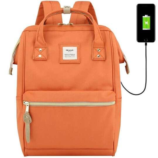 """Plecak Himawari 9001 na laptopa 13,3"""" z USB - Kolor: pomarańczowy"""