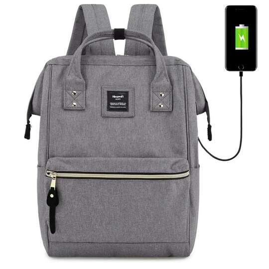"""Plecak Himawari 9001 na laptopa 13,3"""" z USB - Kolor: szary"""
