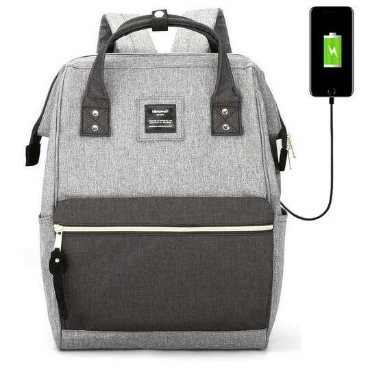 """Plecak Himawari 9001 na laptopa 13,3"""" z USB - Kolor: szaro-grafitowy"""