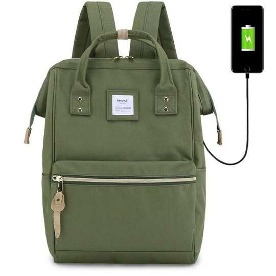 """Plecak Himawari 9001 na laptopa 13,3"""" z USB - Kolor: zielony"""