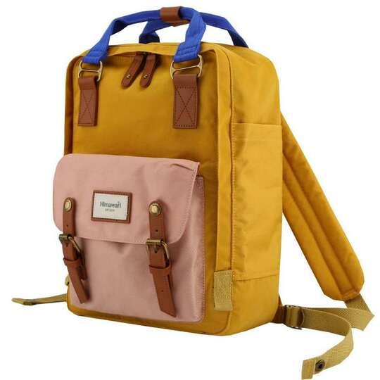 """Plecak Himawari HM188L na laptopa 13,3"""" 14,1"""" vintage - Kolor: 55. żółto-różowo-niebieski"""