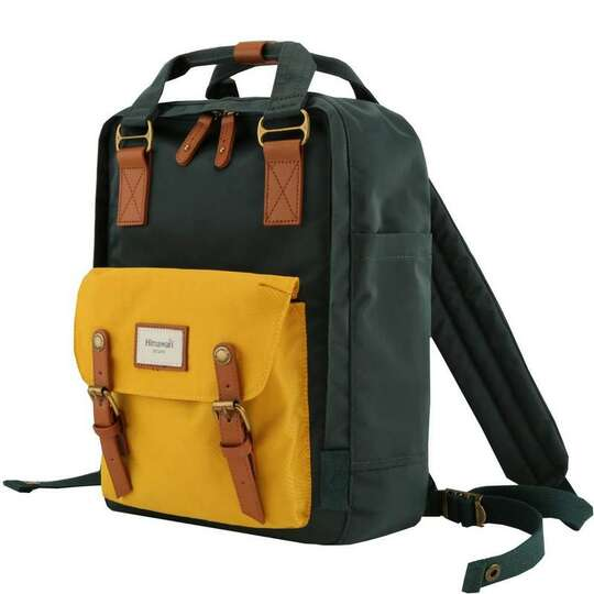 "Plecak Himawari HM188L na laptopa 13,3"" 14,1"" vintage - Kolor: 56. zielono-żółty"