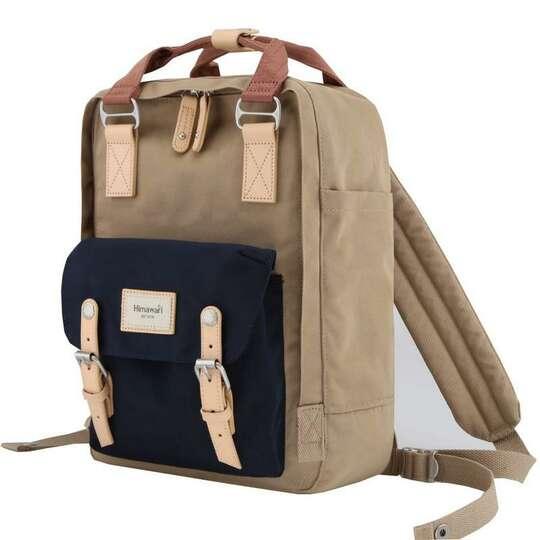 """Plecak Himawari HM188L na laptopa 13,3"""" 14,1"""" vintage - Kolor: 57. kawowo-granatowo-różowy"""
