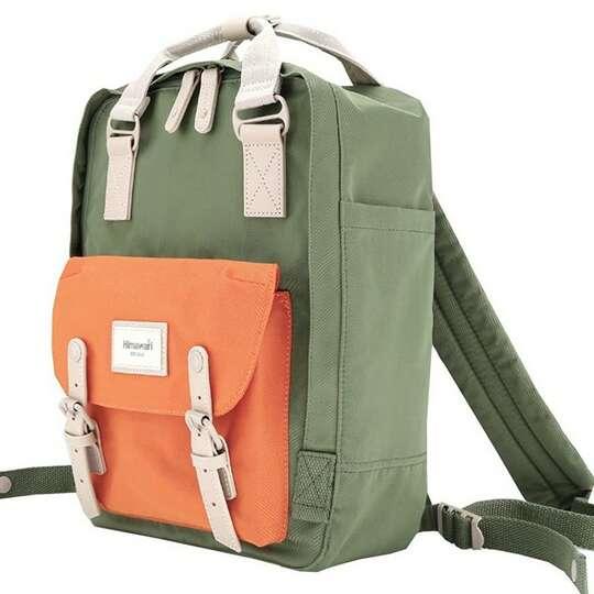 "Plecak Himawari HM188L na laptopa 13,3"" 14,1"" vintage - Kolor: 68. zielono-pomarańczowy"